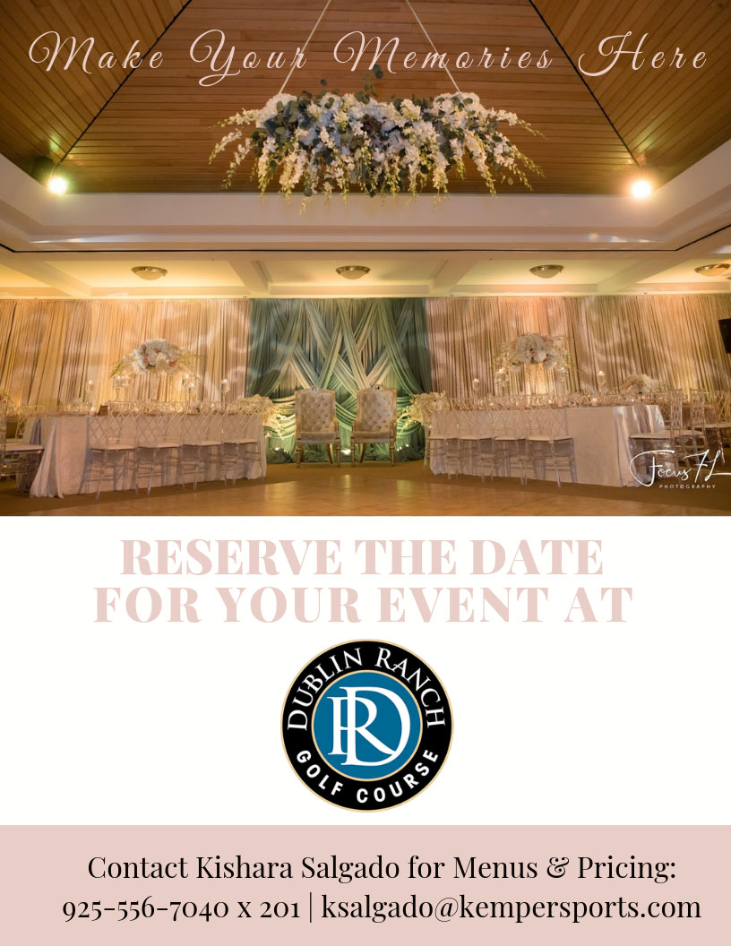 Reserve the date for your event at Dublin Ranch Golf Course