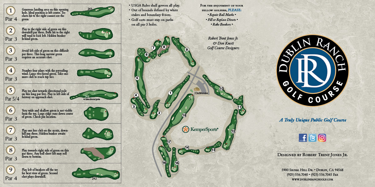 course layout flyer